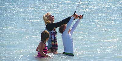 Teaching Kids Kiteboarding