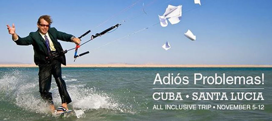 """Adiós Problemas!"" All-inclusive Kiteboarding Tour to Cuba"